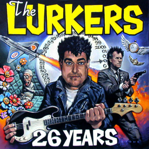 26 Years The Lurkers CD Cover. Oil On Canvas 50 x 50 cm