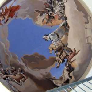 Cupola Mural Homage to Tiepolo. Acrylic and Emulsion on Plaster