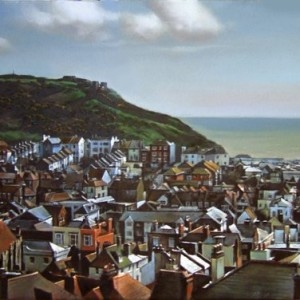 Hastings Old Town 3. Oil On Canvas 70 x 45 cm