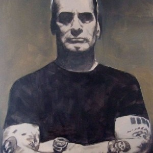 Henry Rollins. Oil On Canvas 50 x 40 cm